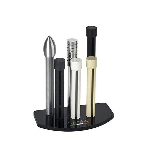 Display stand for round aluminium products