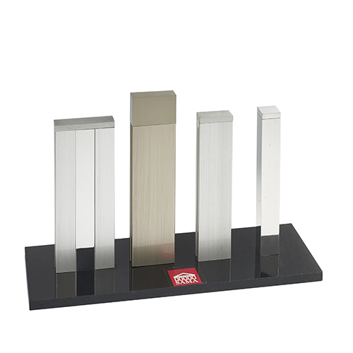Display stand for square aluminium products 3.5, 4.5, 6