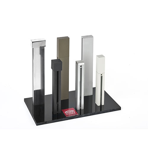 Display stand for square aluminium products 3.5