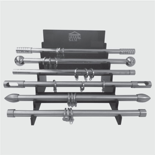 Display stand for steel products